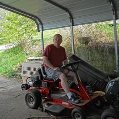Mowing Season Again (Lulu & Ken (cheneworthgap.com)) Tags: mower