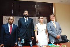 Fritz Cineas, Juan Luis, Melba Segura y Jean Marc Harrion