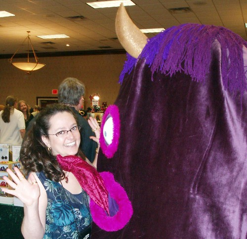 Amy H. Sturgis and a One-Eyed, One-Horned, Flying Purple People Eater at RavenCon 2010