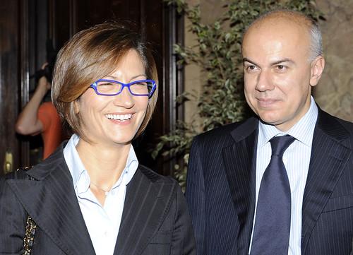 Edoardo Croci con il ministro della pubblica istruzione Mariastella Gelmini, 26 maggio 2009