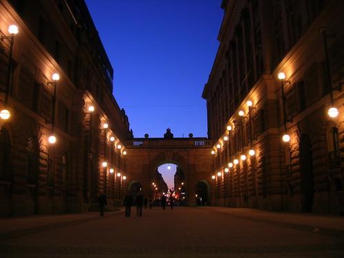 Riksdagen by night