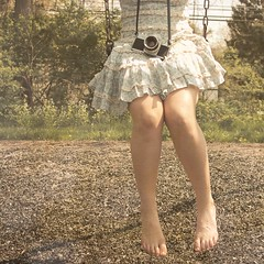. (little.lions) Tags: camera blue white texture feet ruffles chains rachel dress lace skirt swing chips explore frontpage picnik lightblue levelandtap samsmiles