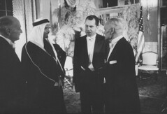 Sherman Adams;Richard M. Nixon;Saud Ibn Abdul Aziz [RF: Saudi Arabia RF] (K_Saud) Tags: dc washington king unitedstates adams president vice nixon richard saudi arabia talking abdul sherman rf aziz ibn saud timeincown 937353