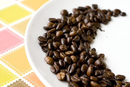 coffee beans on plate 2
