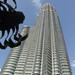 Spidey looking way up at the Petronas Tower. Kuala Lumpur. Malaysia 19MAR10