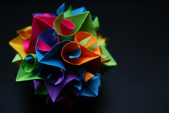 Day 113 of 365... ( Brandy Young ) Tags: origami 2010 day113 kusudama 365days