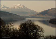 Loch Tay (straaddreamer) Tags: snow mountains reflection nature water lumix scotland panasonic lochtay photoshopelements fz18