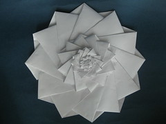 Chris Palmer's 12 Point 5 Stage Flower Tower (georigami) Tags: paper origami papel papiroflexia origamiforum stardream chriskplamer