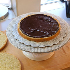 Raspberry and Chocolate Ganache Cake with White Chocolate Buttercream