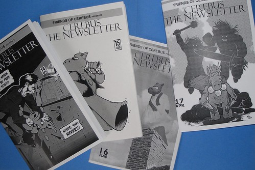 Issues #14 - 17 of Cerebus the Newsletter by you.