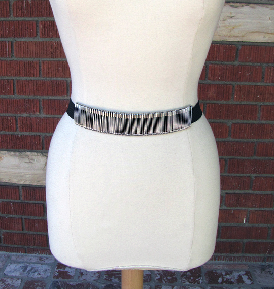 safety pin belt diy