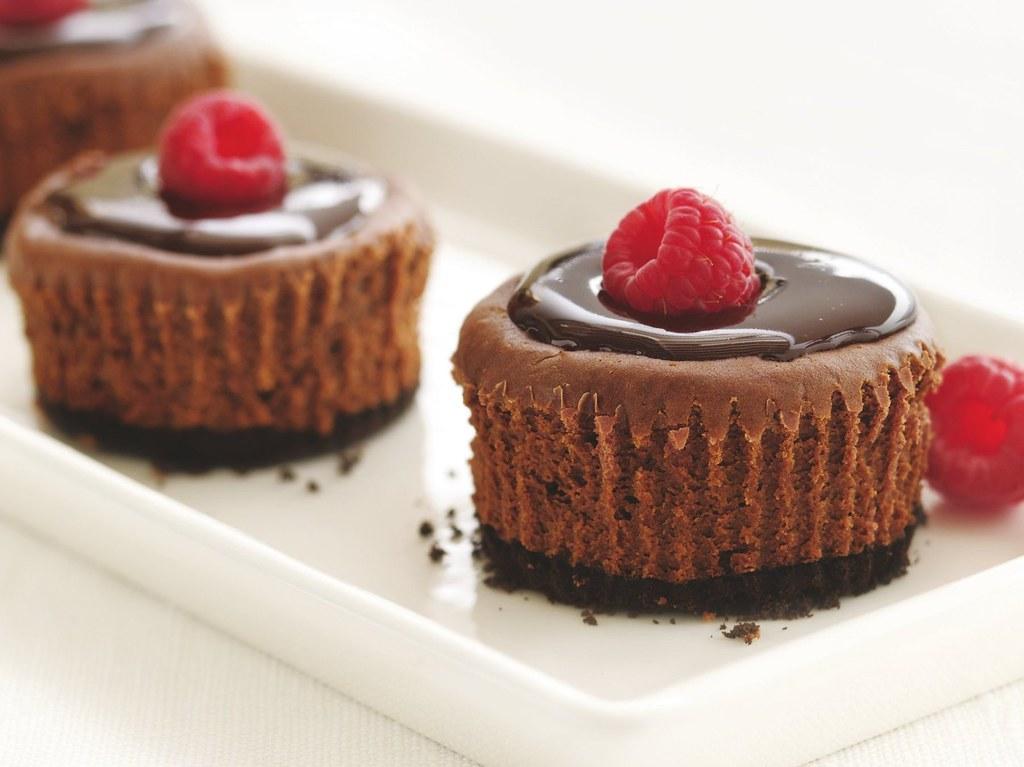 """Healthified"" Mini Chocolate Cheesecakes Recipe"