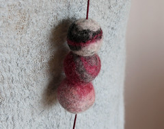 (red2white) Tags: uk pink blue red white black art fashion grey beads handmade scottish felt jewellery accessories etsy wearable multicolored alternative red2white