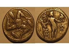 Roman Imperatorial from Sicily (?) (Baltimore Bob) Tags: old money rome silver coin ancient roman sicily denarius imperatorial