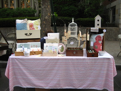 table display at RISD Spring Alumni Sale 2010