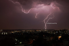 Chasing Lightning (motorcycho) Tags: india clouds eshan lightning streaks pune shetty lightnin
