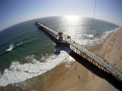 Huntington Beach - Surf City - California From a Kite (Wind Watcher) Tags: california kite beach water sand huntington hero kap kiteaerialphotography dopero windwatcher chdk
