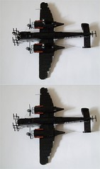 Heinkel He-219 Uhu (9) (Mad physicist) Tags: germany lego aircraft wwii heinkel ww2 nightfighter