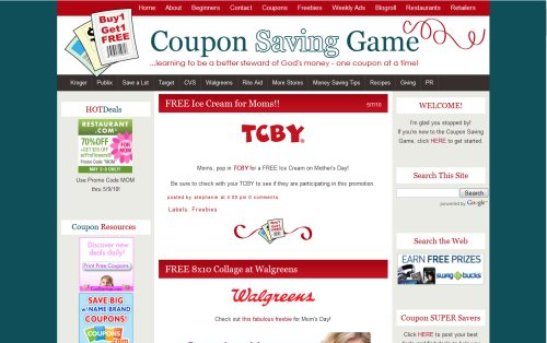 Coupon Saving Game