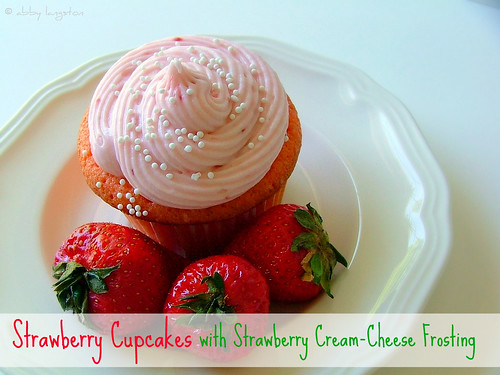 Strawberry Cupcakes with Cream-Cheese Frosting