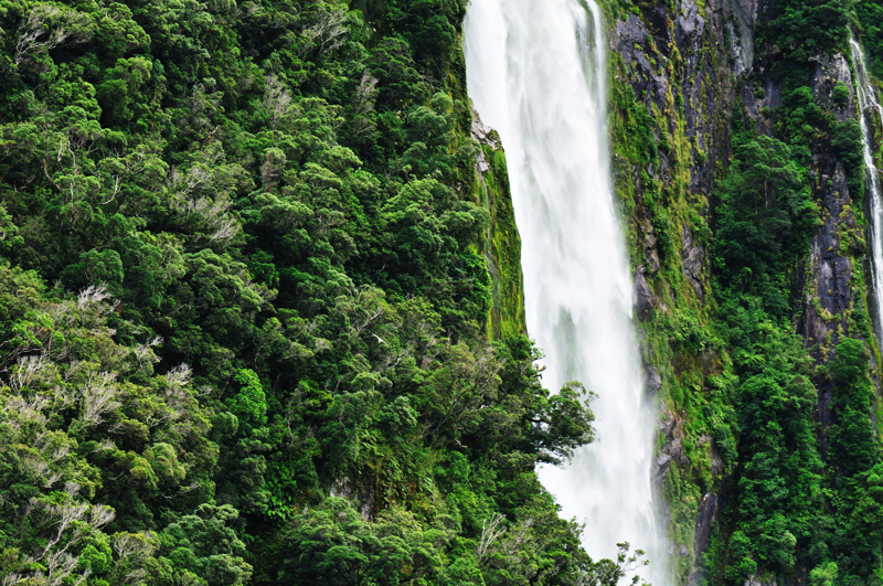 Waterfall-Milford Sound