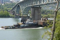 The Heidi L Brusco @ the Ross Island bridge