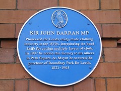 Photo of John Barran blue plaque