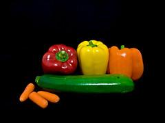 Veges (kweaver2) Tags: food vegetables pepper carrot zucchini redpepper yellowpepper orangepepper kathyweaver