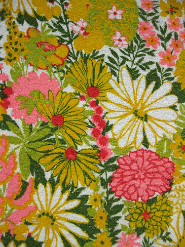 Pink and Gold Vintage Terry Fabric