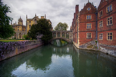 Bridge of Sighs (JH Images.co.uk) Tags: uk travel bridge cambridge light england colour building brick art architecture photoshop geotagged photography photo nikon europe exposure raw britain united bricks wide bridgeofsighs nikkor dslr stjohnscollege hdr cambridgeshire lightroom rivercam 1024 d300 d90 photomatix tonemapped photomatrix