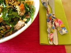 spring details over lunch. (twiggs // catching up!) Tags: pink food chicken ikea cooking table lunch mushrooms salad spring herbs napkin sunday egg knife fork bowl rocket parsley whitebowl rucolla greenrocket