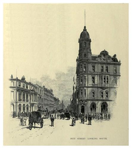 011-Pitt street vista sur-Sydney-Australasia illustrated (1892)- Andrew Garran