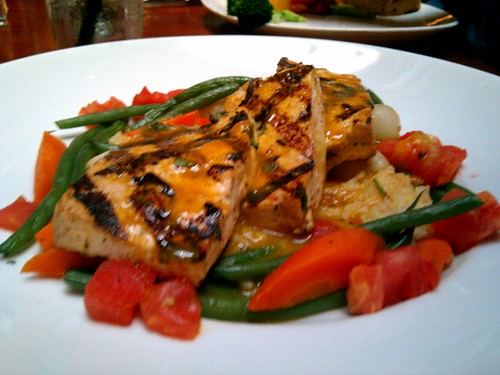 Tofu Over Basmati Rice and Veggies