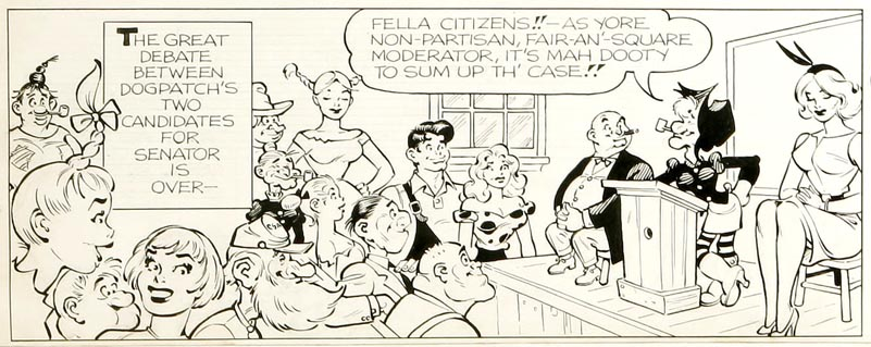 Li'l Abner Sunday Strip, 1960, detail02