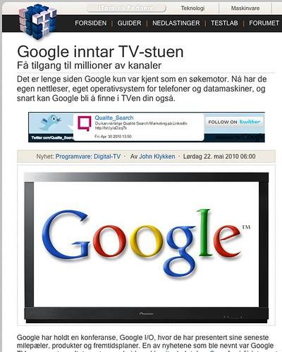 Google Twitter AdSense Ads