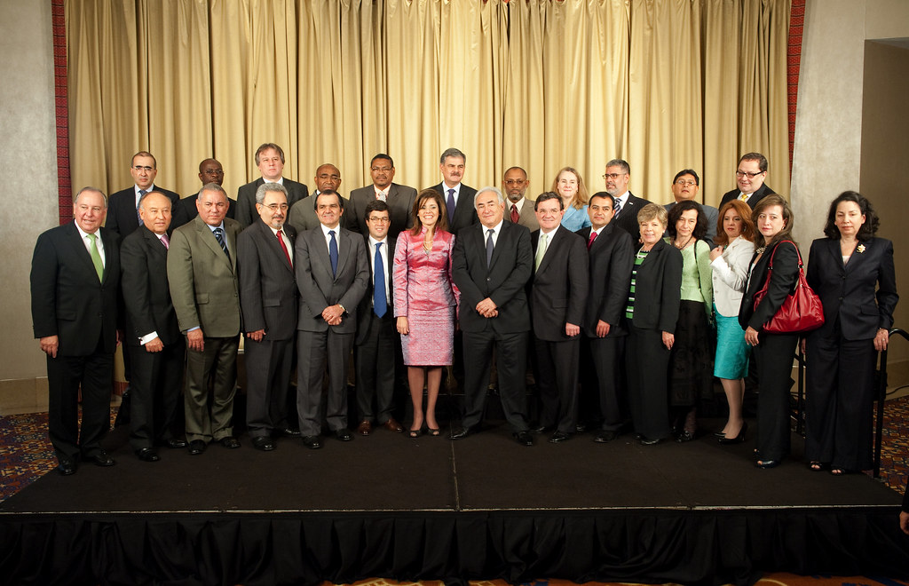 IMF Managing Director with Finance Ministers from Americas