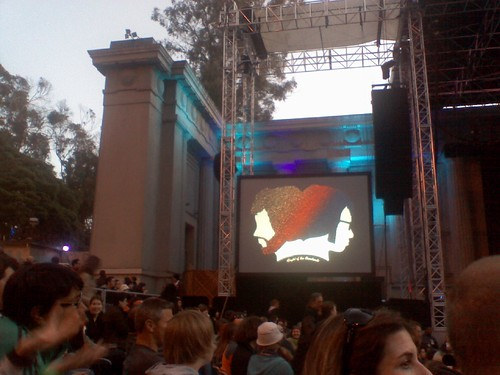 Waiting for Jermaine and Bret at the Greek Theater at Cal