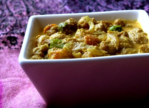 Soya Chunks Kurma Recipe | Soya Chunks Vegetable Kurma Recipe