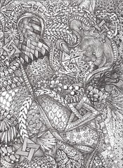 World Map (molossus, who says Life Imitates Doodles) Tags: wallet zentangle zendoodle zentangleinspiredart