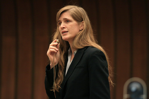 Samantha Power U.S. Ambassador to the United Nations, and .bleeding heart. liberal interventionist.