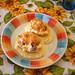 Patatas rellenas de salchichas