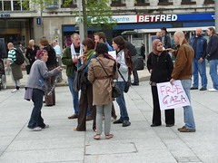 Free Gaza Supporters  - Nottingham Old Market Square - May 31st 2010 . (Lenton Sands) Tags: nottingham supporters oldmarketsquare freegaza freegazasupporters