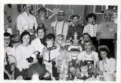 Bobbing Apples Cross Eyed Girl (dragonflydesignstudio) Tags: 1950s daleevans mothergoose vintagehalloween