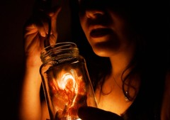 What if we could taste a little bit of heaven or a little bit of hell ... which one would you choose? (d'pegasus) Tags: glass fire heaven play hell jar taste