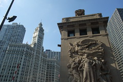 Chicago fire monument