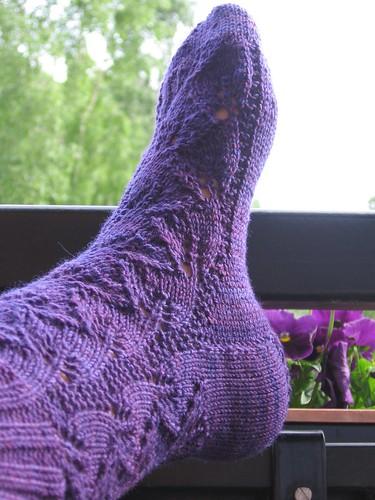 Sokker med bladmønster