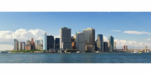 At the Same Moment, Lower Manhattan Panorama from Governor's Island, New York City