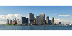 At the Same Moment, Lower Manhattan Panorama from Governor's Island, New York City (andrew c mace) Tags: city nyc summer panorama newyork skyline cityscape manhattan pano financialdistrict batterypark brooklynbridge eastriver hudsonriver statestreet governorsisland worldfinancialcenter lowermanhattan statenislandferry piera hugin beaverhouse fidi newyorkplaza nikkor70300 nikoncapturenx nikond90