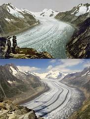 Glaciar Gran Aletsch 1890-2005