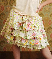 Ooh La La Ruffled Skirt PDF Pattern (snazziedrawers) Tags: pink paris green french ruffles photography outfit sewing victorian cream ivory skirt fabric childrens scrap parisian headband ruffle ruffled quiltshop heatherbailey niceyjane epatternboutique